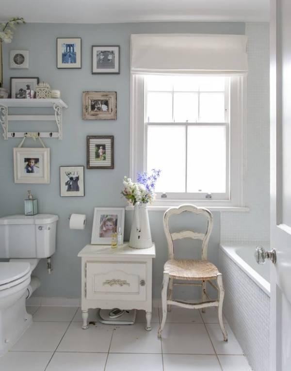 Дизайн ванной в стиле прованс - фото аксессуаров