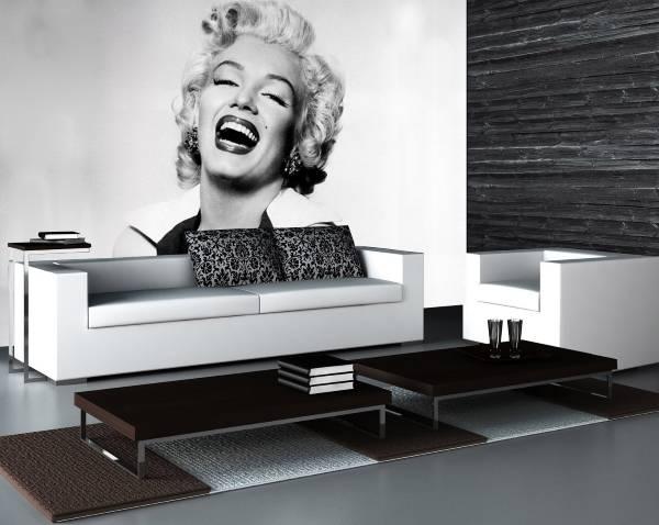 Черно-белые фотообои Мерилин Монро