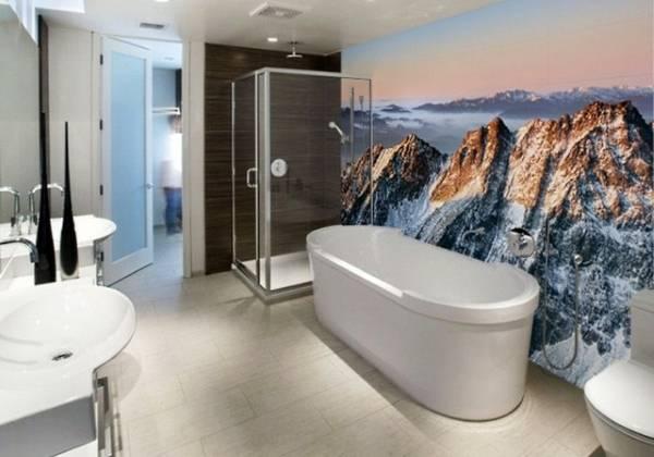Фотообои для стен ванной комнаты
