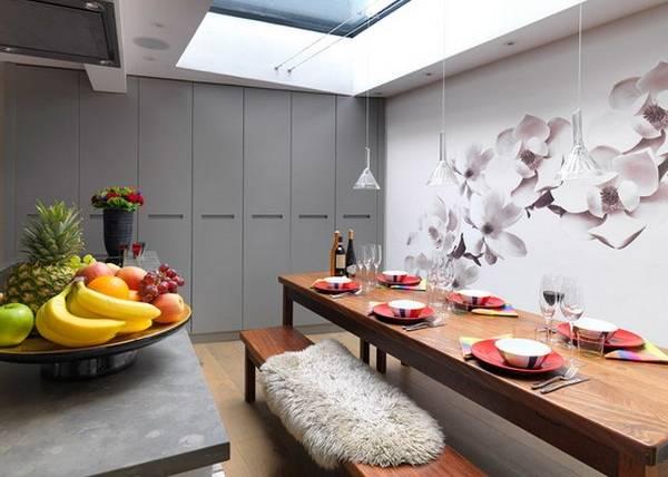 Фотообои цветы для кухни