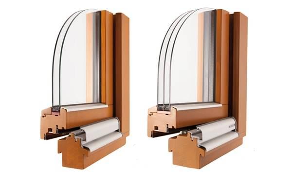 Композитные окна - фото одинарного и двойного стеклопакета