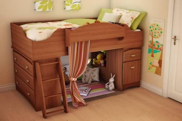 Детская кровать чердак для девочки