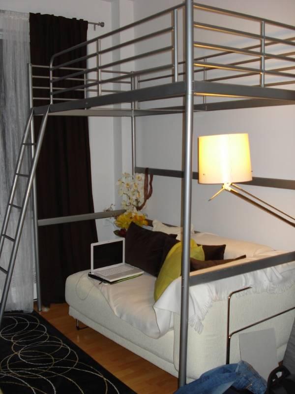 Кровать чердак Икеа с диваном внизу
