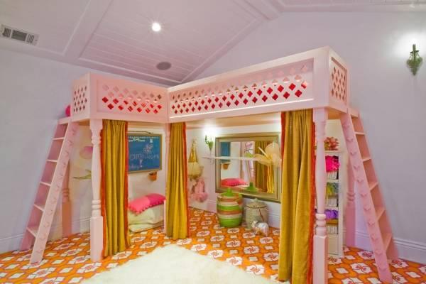 Кровать чердак для детей девочек