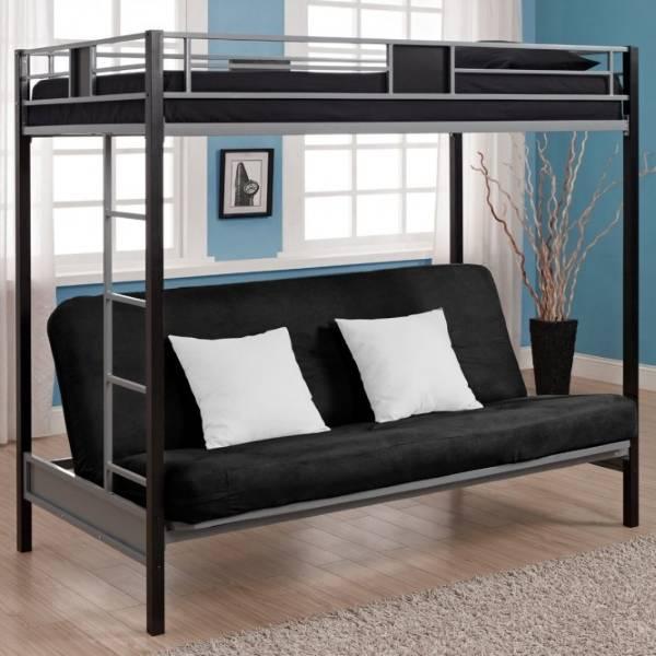 Фото мебели - красивая кровать чердак с диваном внизу