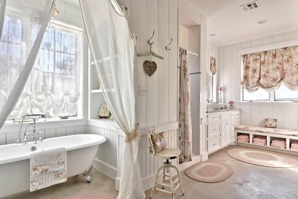 Лучшие ванные комнаты в стиле прованс - фото ванной