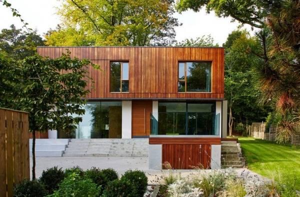 Красивый дизайн фасада частного дома - фото двухэтажного дома