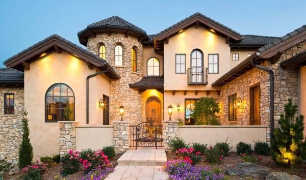Лучшая отделка фасада частного дома камнем