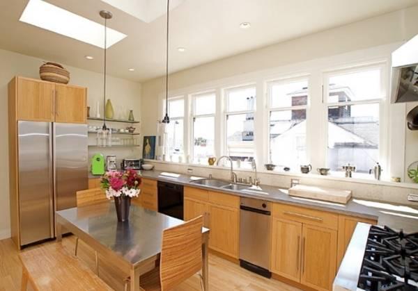 Окна ПВХ - фото кухни