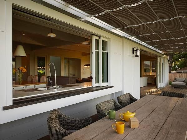 Креативный дизайн окон в частном доме - фото раздвижных окон