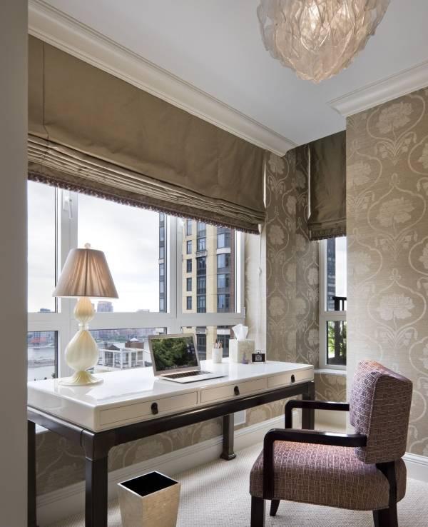Шикарные римские шторы из плотной ткани