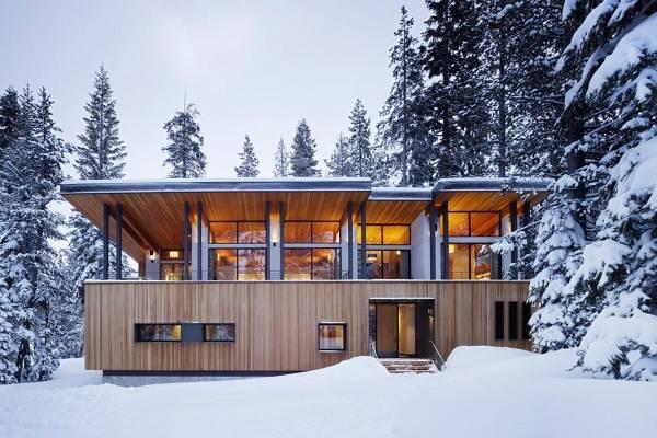 Облицовка фасадов деревянными панелями