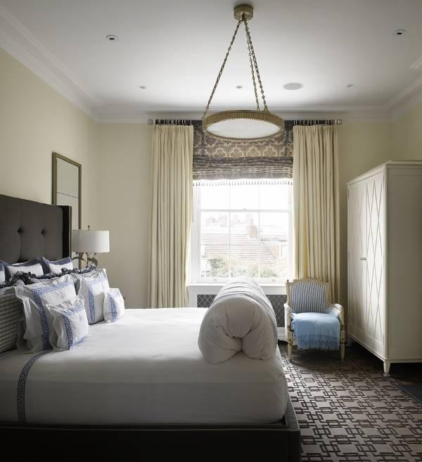 Стильные римские шторы для спальни luxury