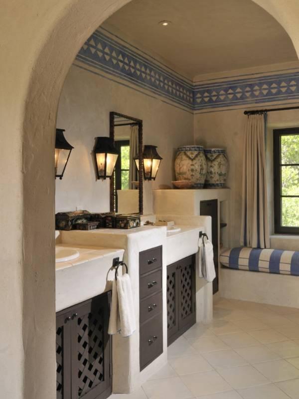 Старинный дизайн ванной в стиле прованс фото