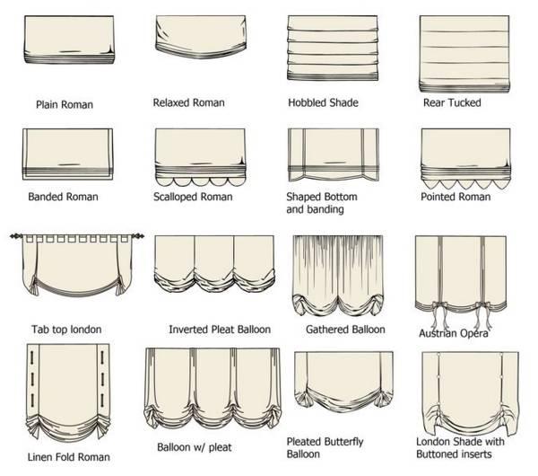 Римские шторы в разных стилях