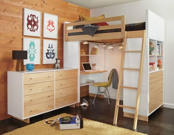 Красивая кровать чердак для детей от 3 лет и подростков