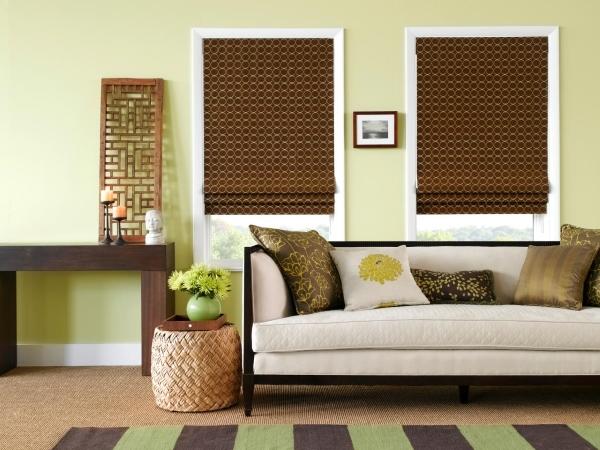 Современные римские шторы для гостиной минимализм