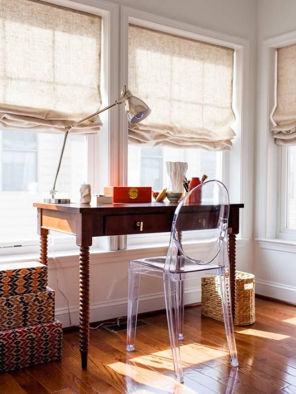 Римские шторы и домашний офис