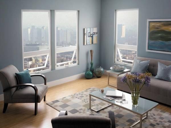 Современный дизайн окна в зале