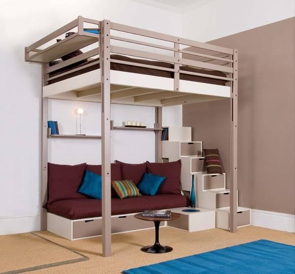 Потрясающая кровать чердак для взрослых с ящиками