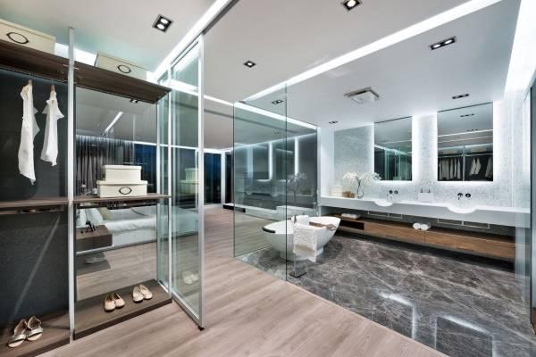Квартира в стиле хай тек - фото ванной