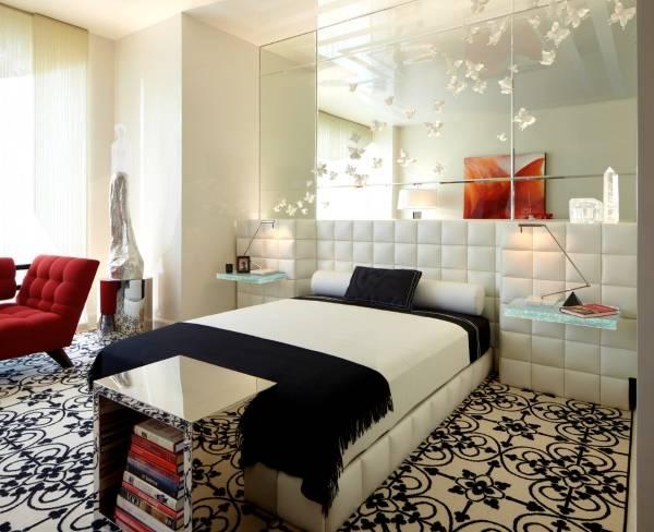 Интерьер в стиле хай тек - фото спальни