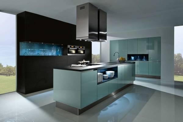 Современный стиль хай тек - фото кухни