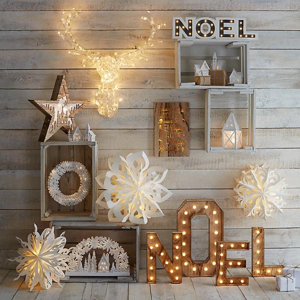 Новогодние украшения для дома из дерева и бумаги
