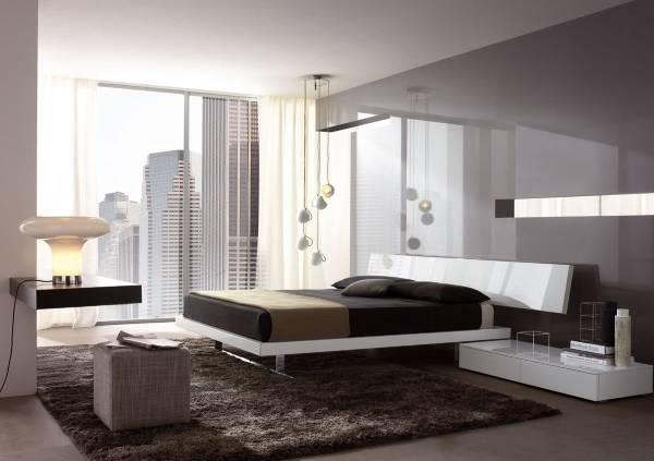 Стиль high tech в дизайне спальни фото