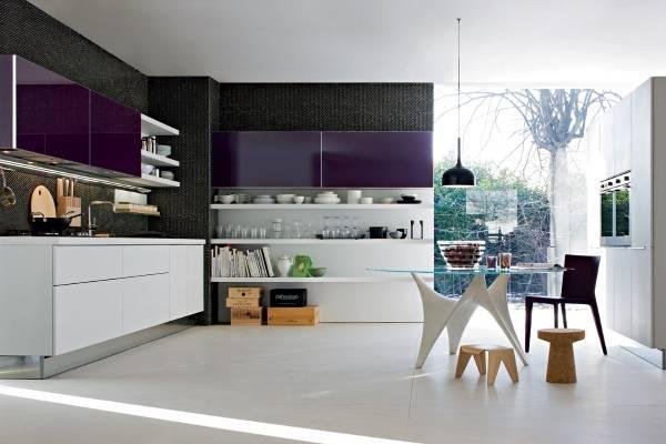 Мебель для кухни в стиле хай тек