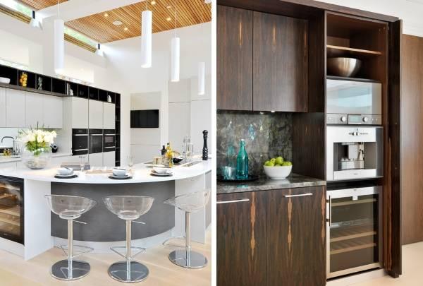 Кухня в стиле хай тек - фото стильных кухонь