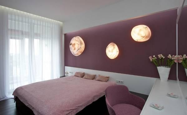 Стиль хай тек - фото штор в спальне