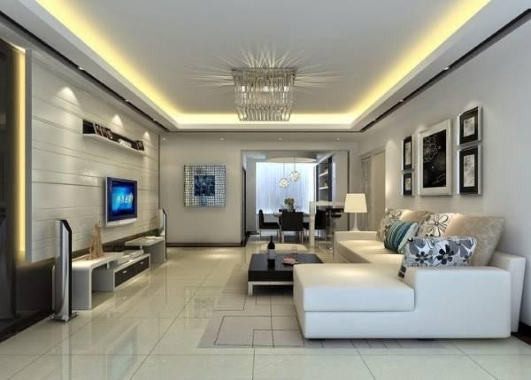 Современная гостиная в стиле хай тек