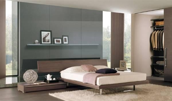 Современная спальня в стиле хай тек - цветовая схема