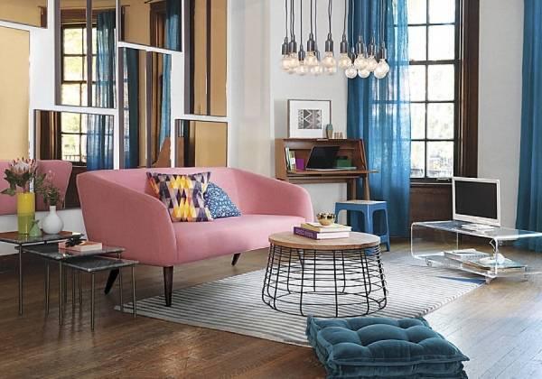 Современный дизайн гостиной в цветах 2016 года