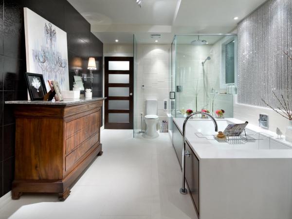 Интерьер в стиле хай тек - фото ванной и туалета