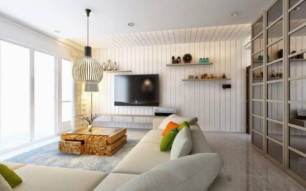 Дизайн в стиле хай тек - фото небольшой гостиной