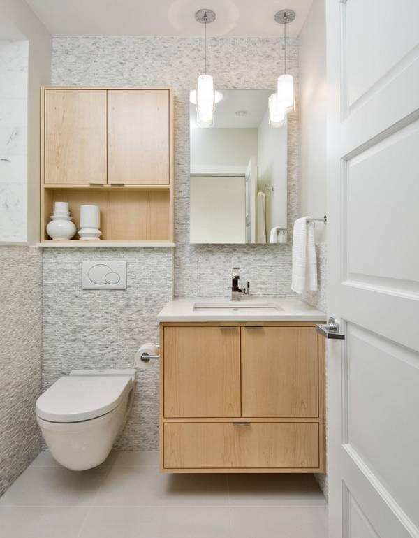 Шкаф над инсталляцией в туалете