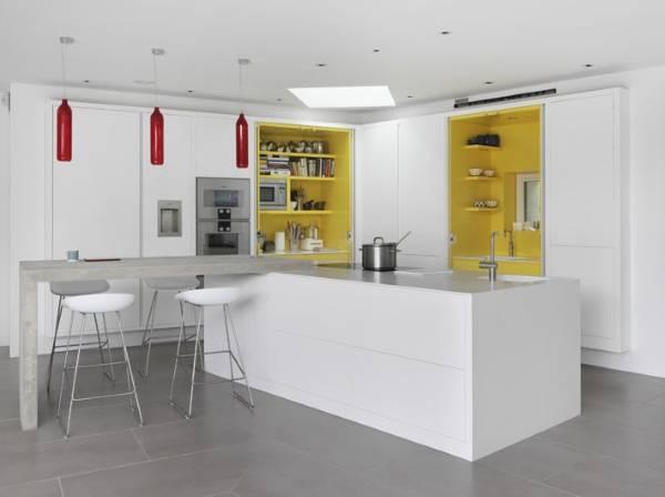 Желтый цвет в психологии кухни