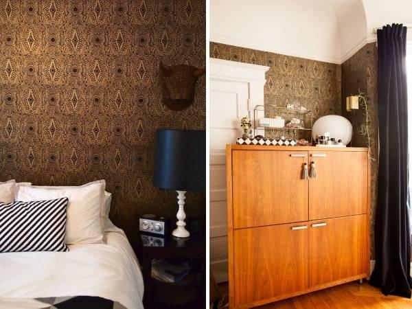 Стильные обои для маленькой спальни фото
