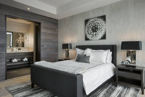 Текстурные обои для спальни комбинированные фото 2016