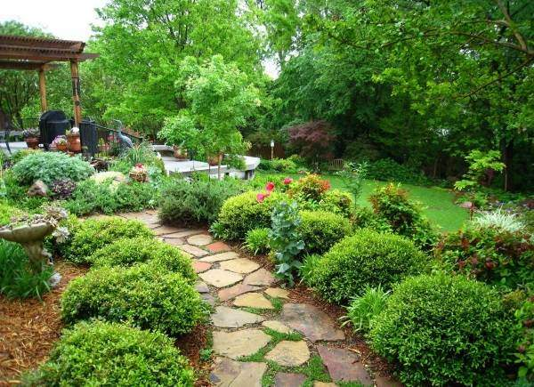 Япоский дизайн садового участка - фото