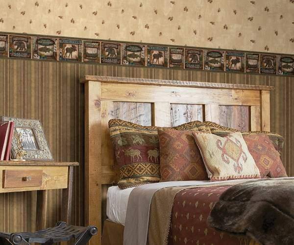Обои для спальни в американском стиле