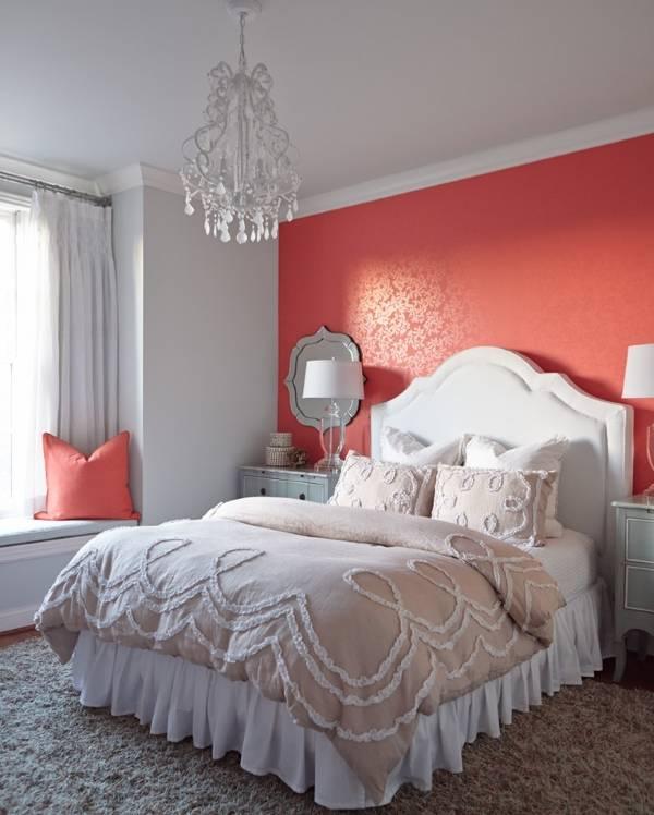 Красные обои для спальни фото 2015