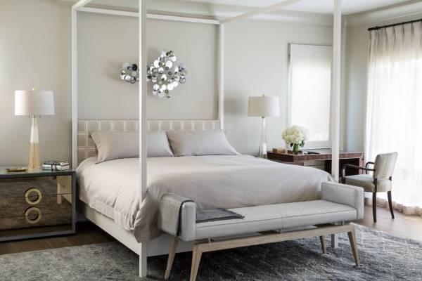 Роскошная спальня белая глянцевая