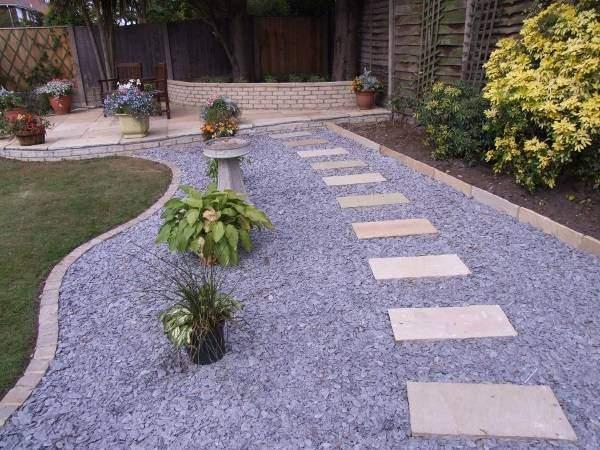 Ландшафтный дизайн сада с красивыми дорожками