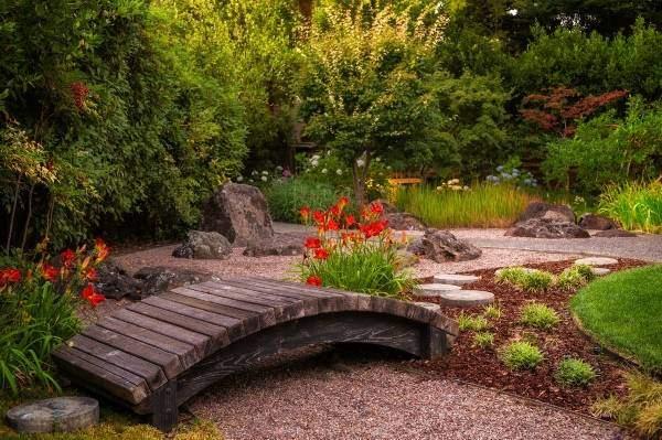 Модный садовый дизайн - фото сада Дзен