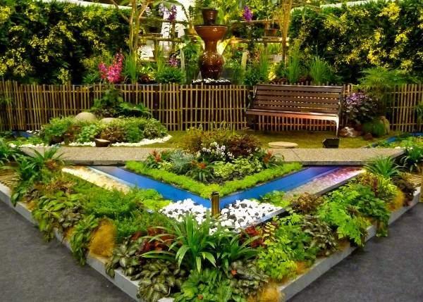 Идея для красивой клумбы в саду