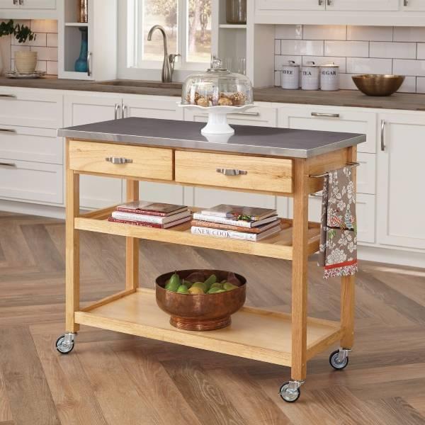 Roots Rack Kitchen Cart Pine: Идея для кухни: кухонный остров из старой мебели