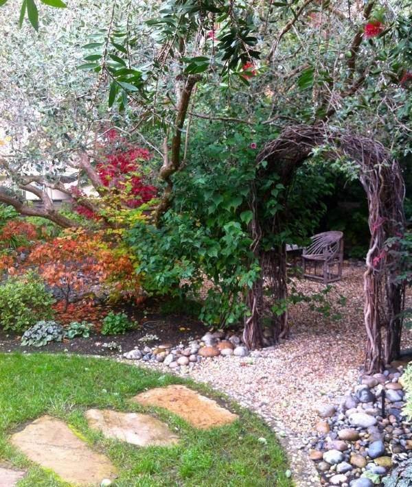 Изысканный ландшафтный дизайн сада - фото арки